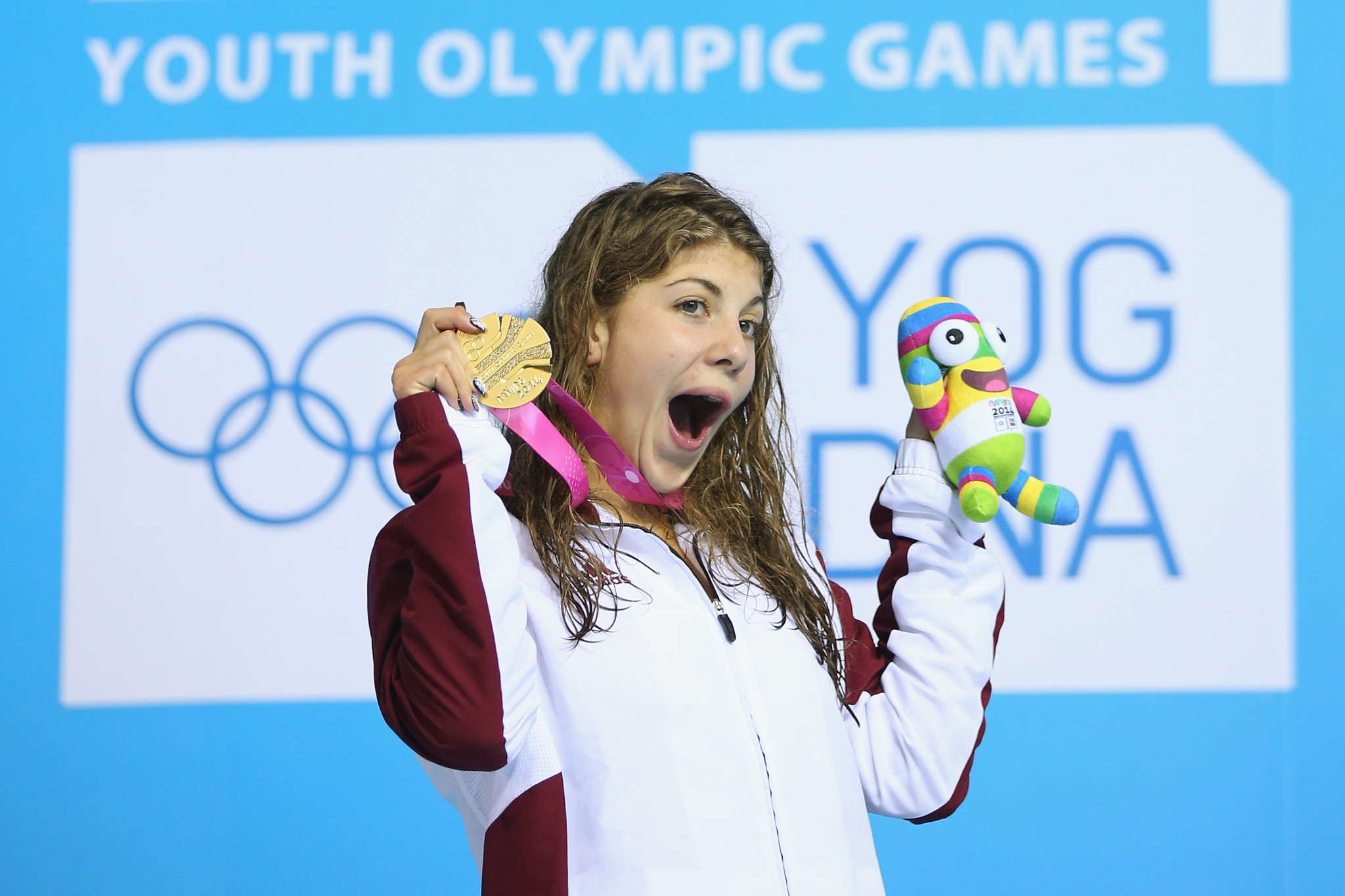 Liliána Szilágyi claimed two gold medals at the 2014 Youth Olympic Games ©Getty Images