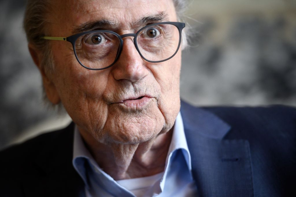 Banned former FIFA President Sepp Blatter is serving a six-year ban from football ©Getty Images