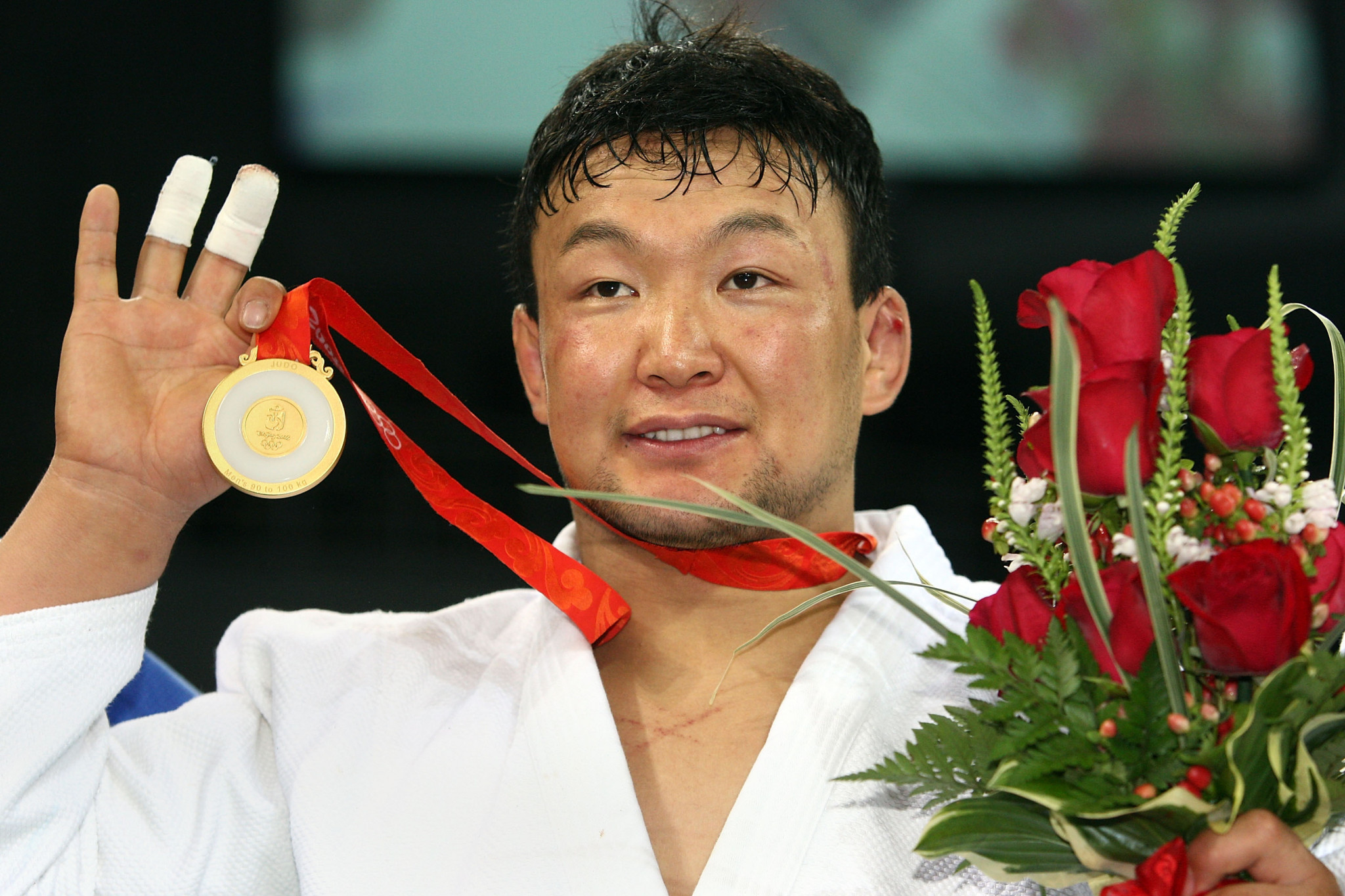 Naidan Tüvshinbayar claimed his country's first Olympic gold medal when he triumphed at Beijing 2008 ©Getty Images