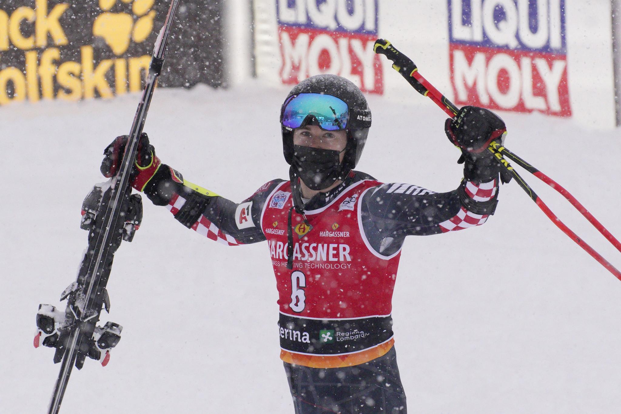 Zubčić fights back in Santa Caterina to take World Cup giant slalom victory