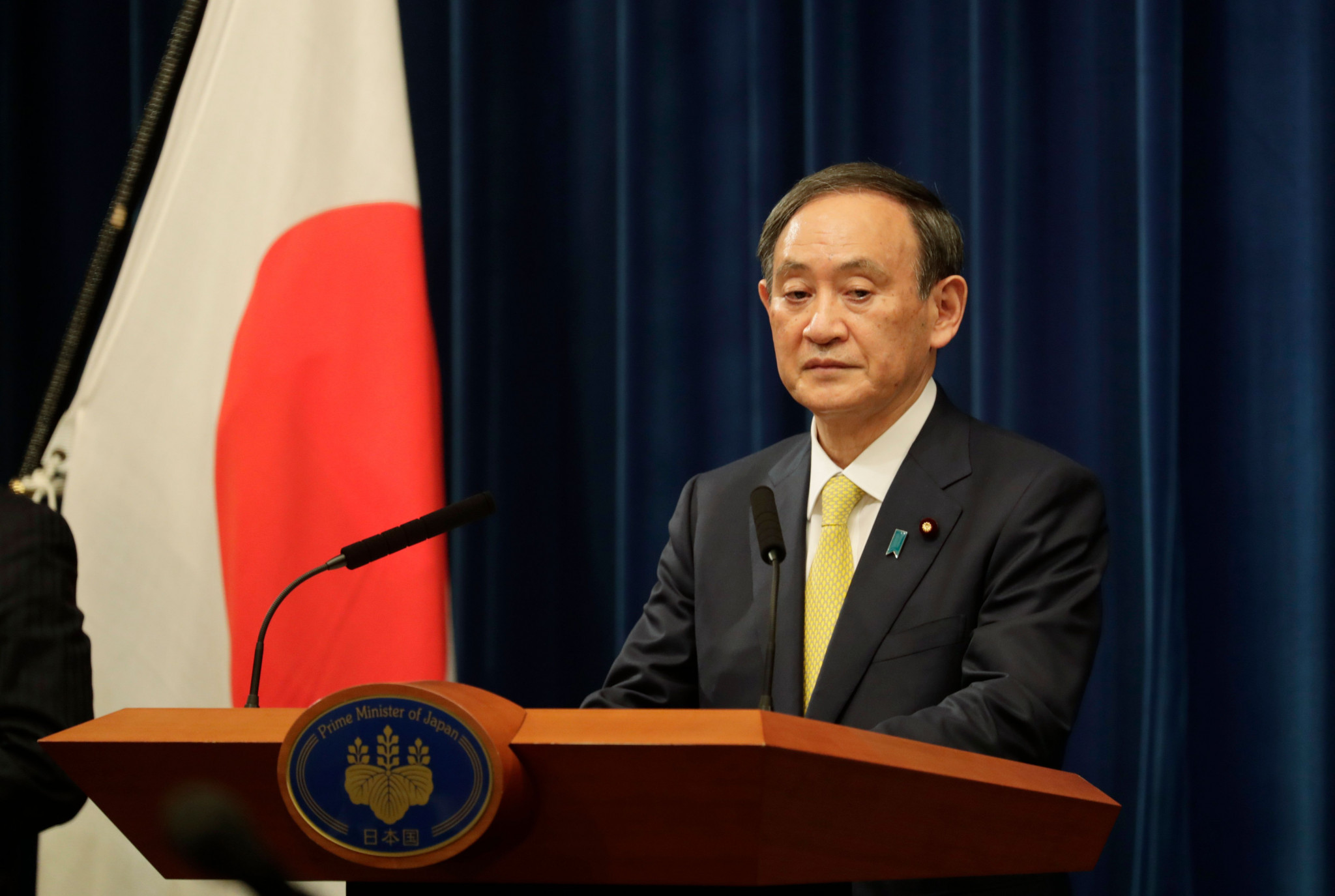 "Japanese Prime Minister Yoshihide Suga claimed he would ""spare no effort"" for Tokyo 2020 ©Getty Images"