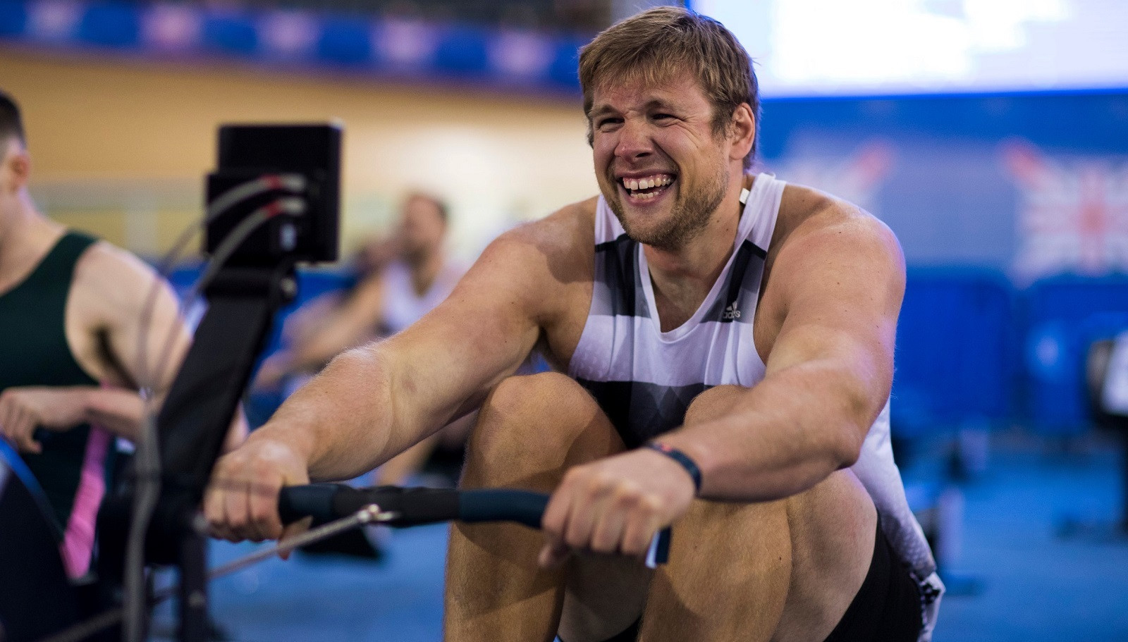 Phil Clapp produced a dominant display in the European qualifiers for the 2021 World Rowing Indoor Championships ©British Rowing