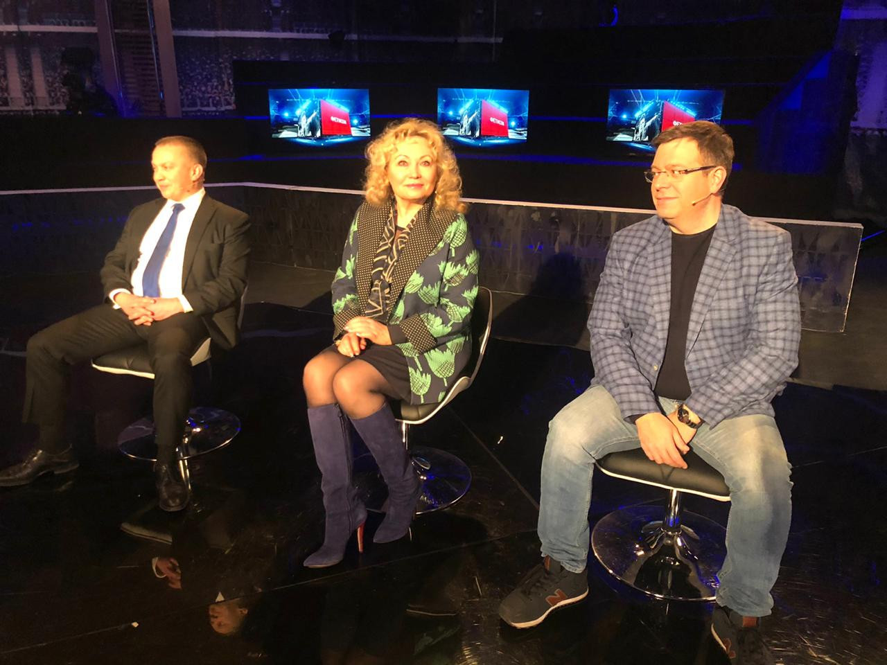 Russian Bobsleigh Federation President Elena Anikina, centre, told Russian television that she is amazed by the Rodchenkov Act ©Zvezdat