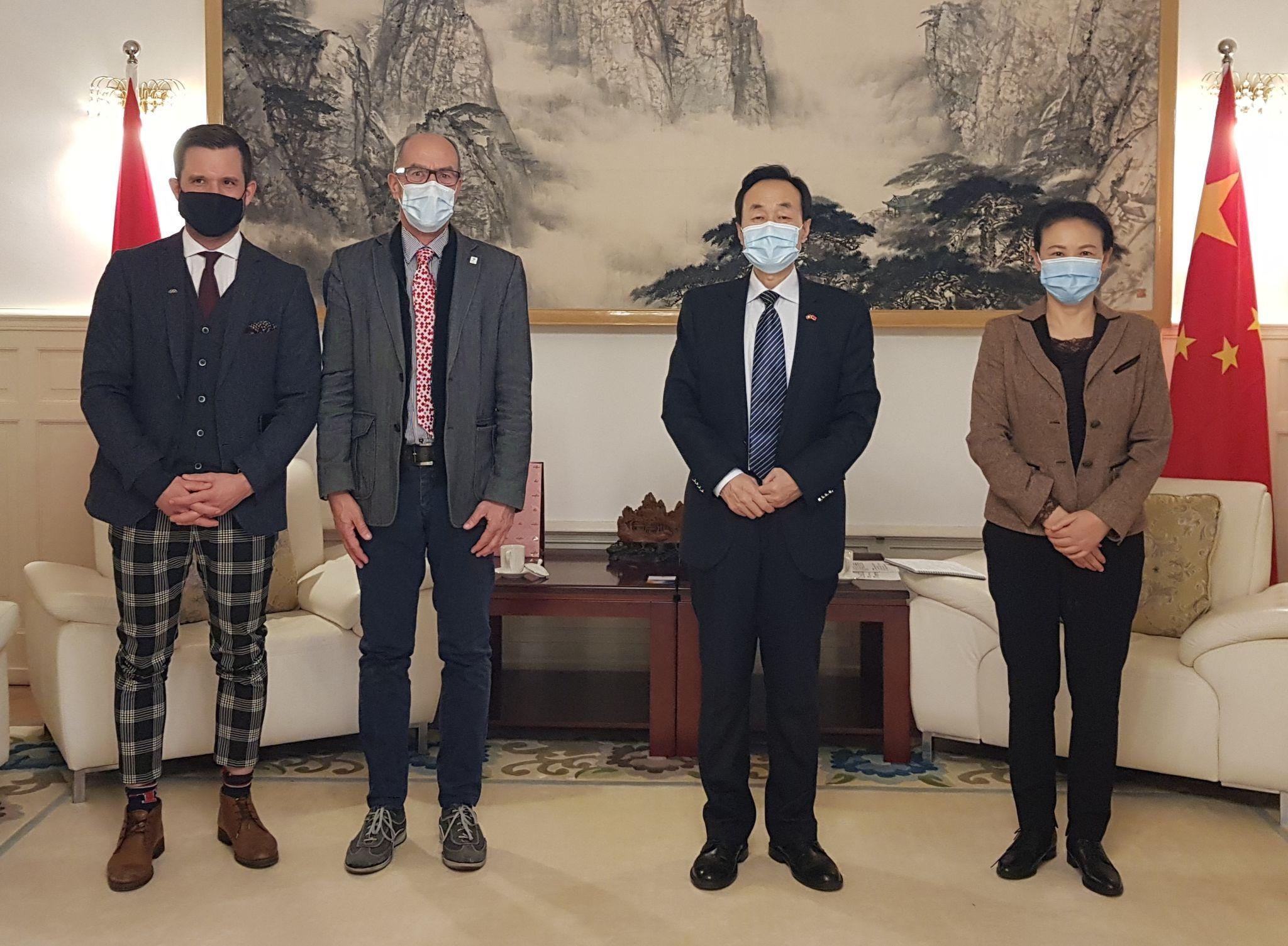 Swiss University Sports visits Chinese ambassador to Switzerland