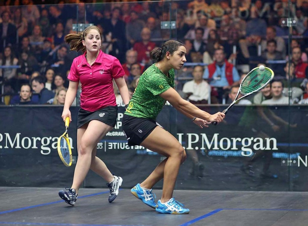 Egypt's Raneem El Welily cruised into the second round after earning a comfortable win ©squashpics