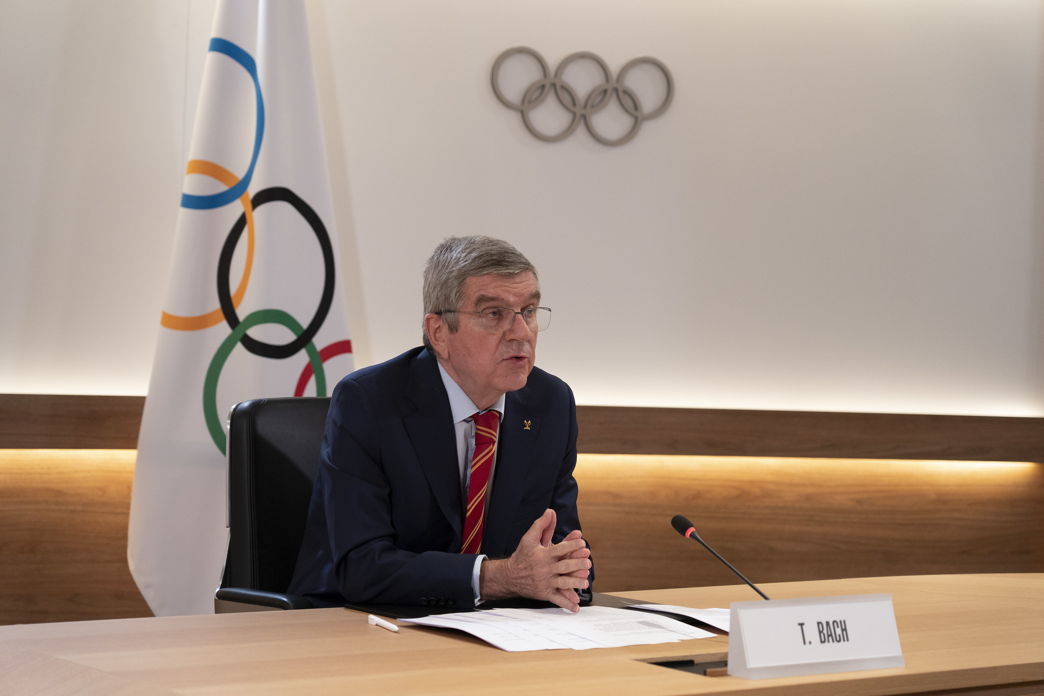 IOC President Thomas Bach implicitly criticised Sebastian Coe during his press conference yesterday ©IOC