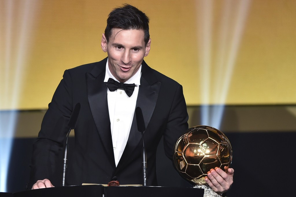 Lionel Messi was named as the winner of the FIFA Ballon d'Or for a record fifth time yesterday