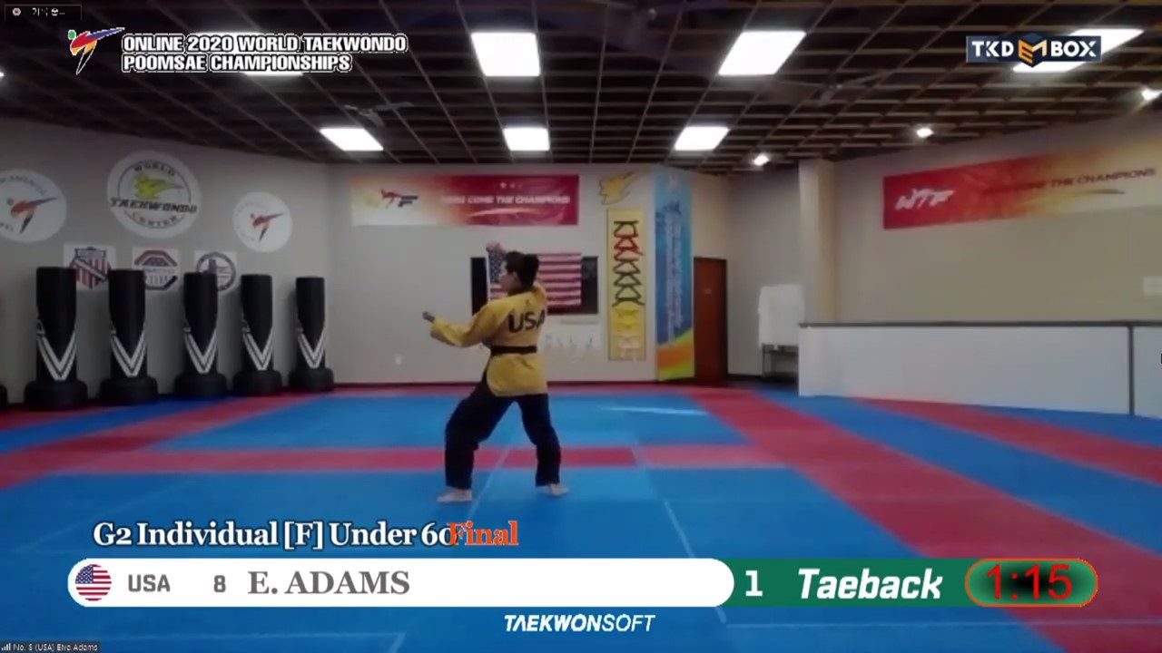 The finals are underway to determine the winners of the inaugural Online World Taekwondo Poomsae Championships ©World Taekwondo