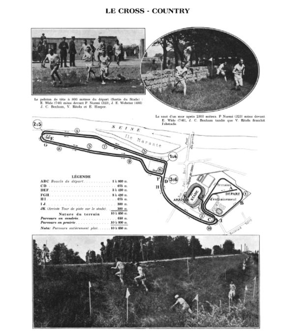 Cross country running last appeared at the Paris 1924 Games but will not return a century on ©Official Report