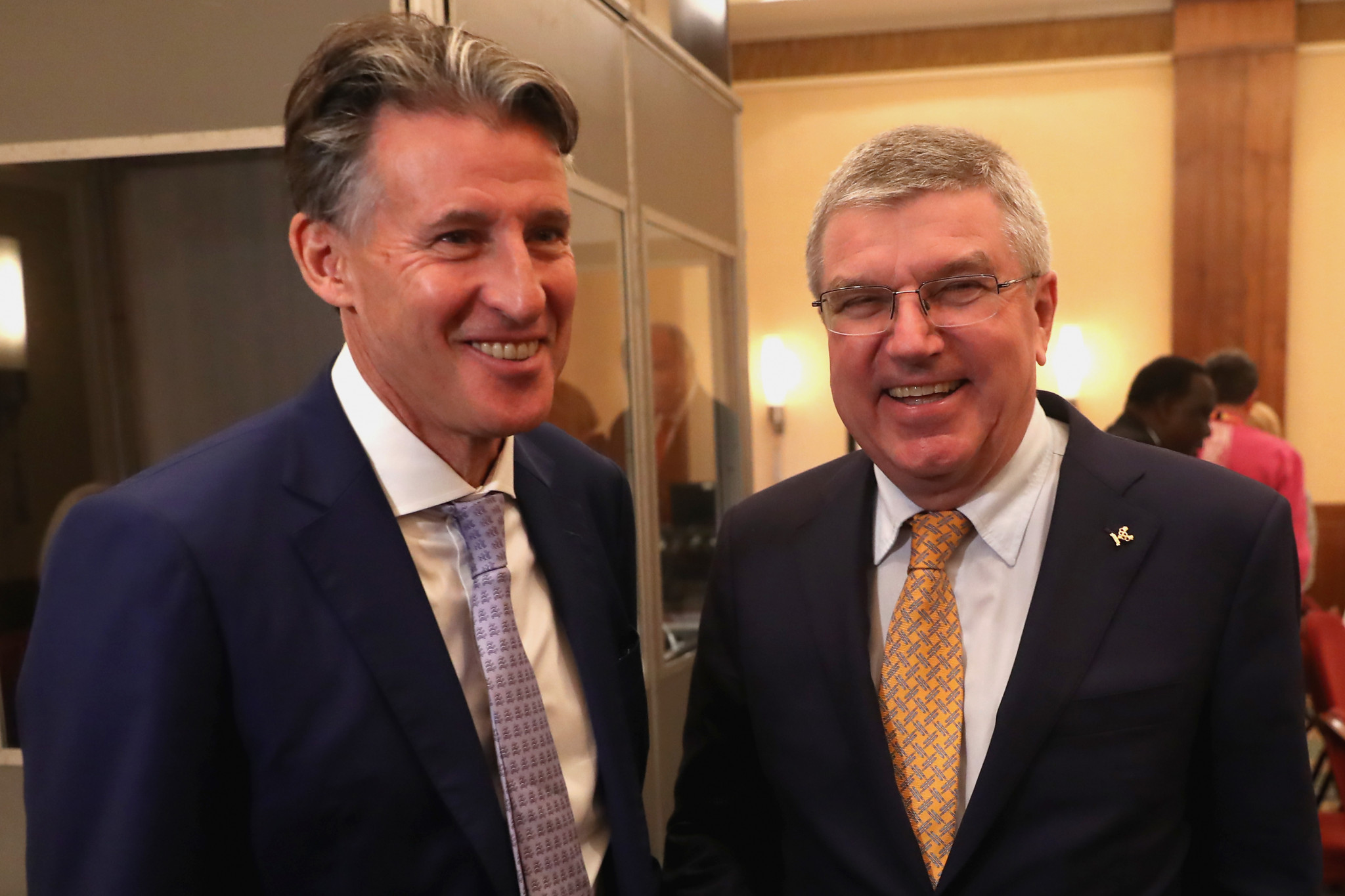 The relationship between Sebastian Coe, left and Thomas Bach, right is worth a keeping an eye on ©Getty Images