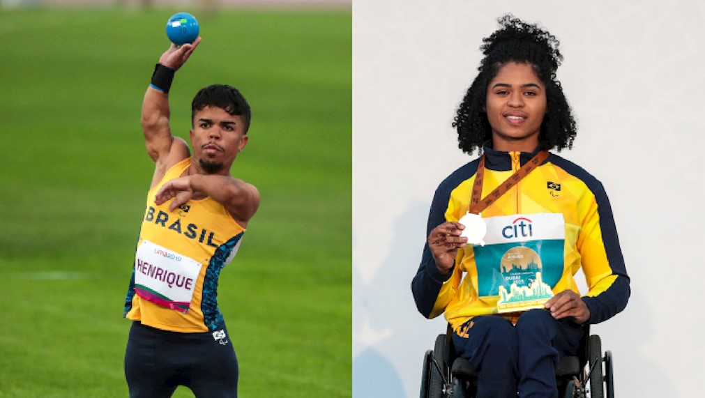 Jair Henrique, left, and Raissa Rocha are participating in the live events ©Brazilian Paralympic Committee