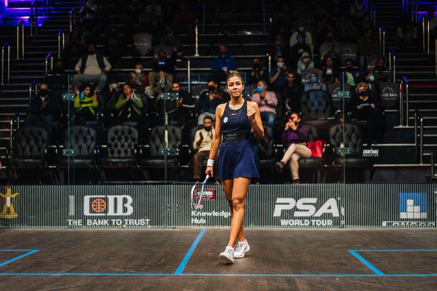 Defending champion El Hammamy battles into PSA Black Ball Squash Open quarter-finals