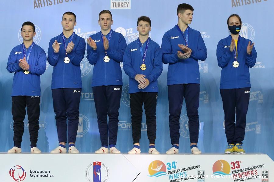 Ukraine claim junior team title on first day of European Men's Artistic Gymnastics Championships