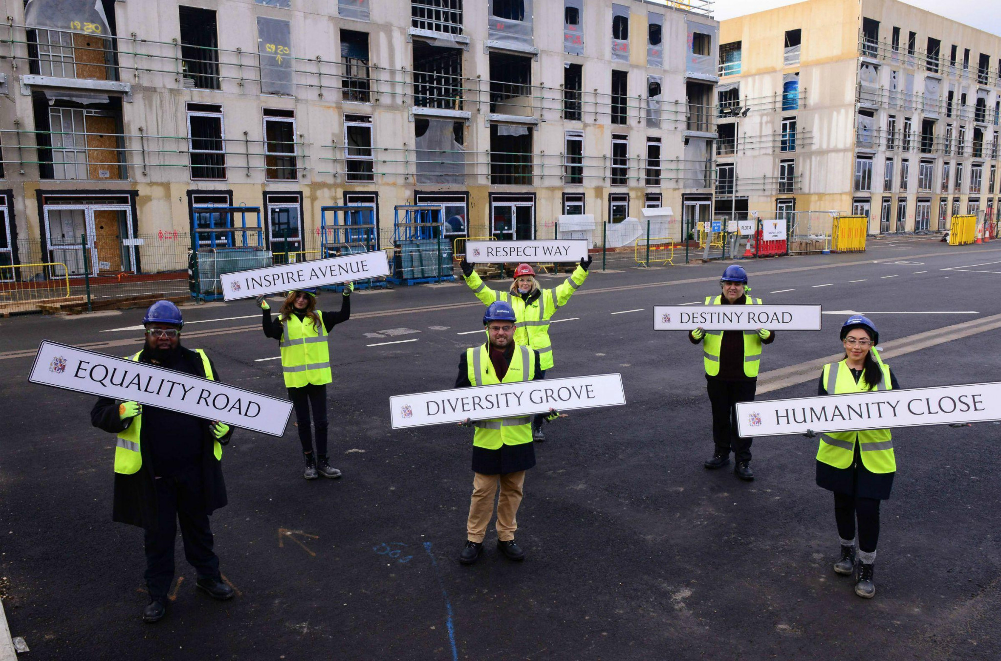 New street names inspired by values of the Commonwealth Sport Movement have been unveiled ©Birmingham City Council
