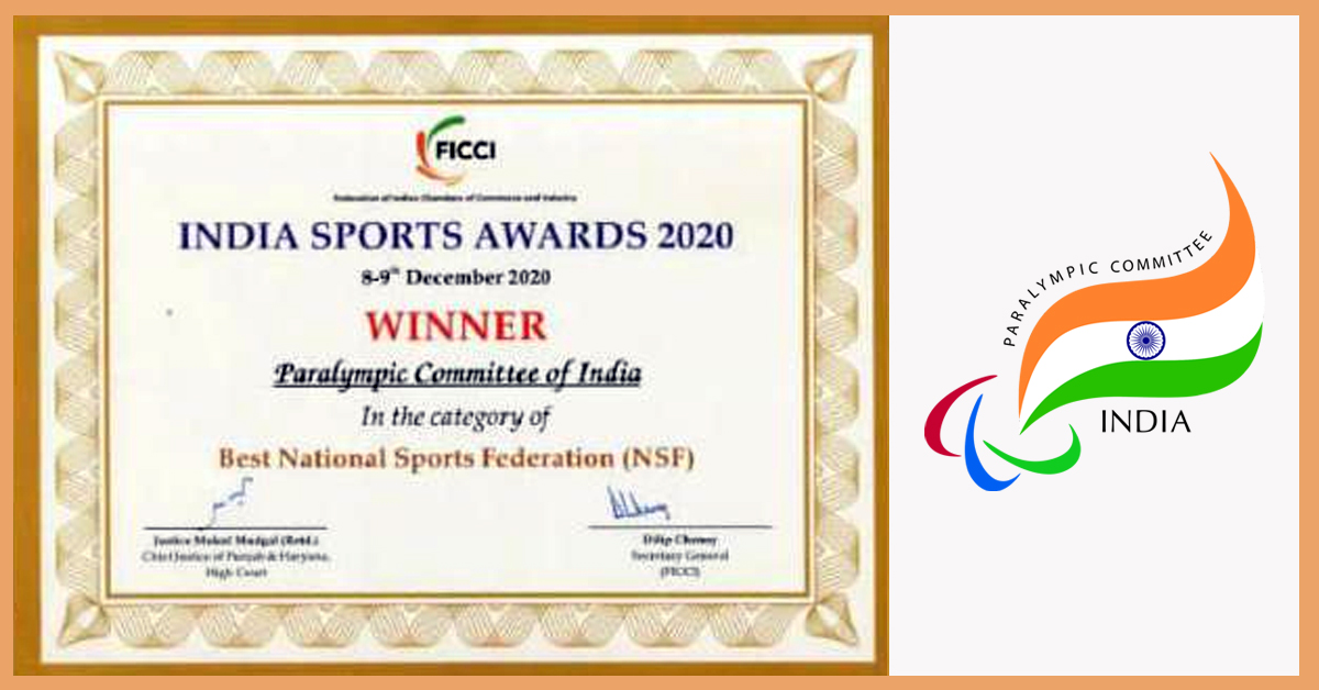Paralympic Committee of India welcomes Best National Federation honour