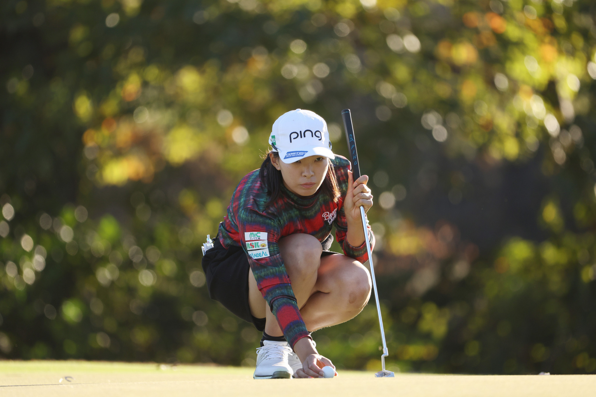 Japan's Hinako Shibuno is one of three players just a stroke behind leader Amy Olson ©Getty Images