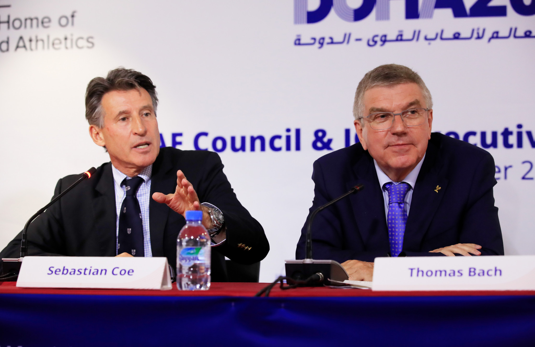 Sebastian Coe and Thomas Bach disagree over the place for peaceful protests at the Olympics ©Getty Images