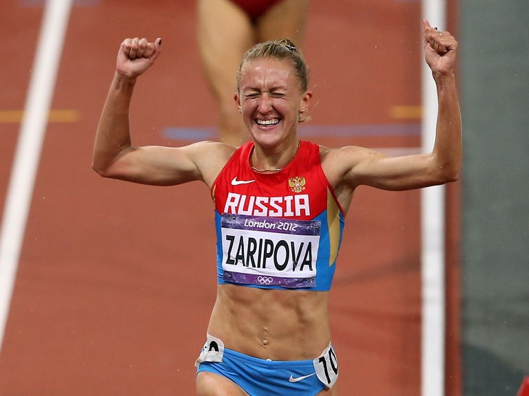 Yuliya Zaripova, winner of the 3,000m steeplechase at London 2012, is among Russian athletes who face being stripped of their Olympic medals ©Getty Images