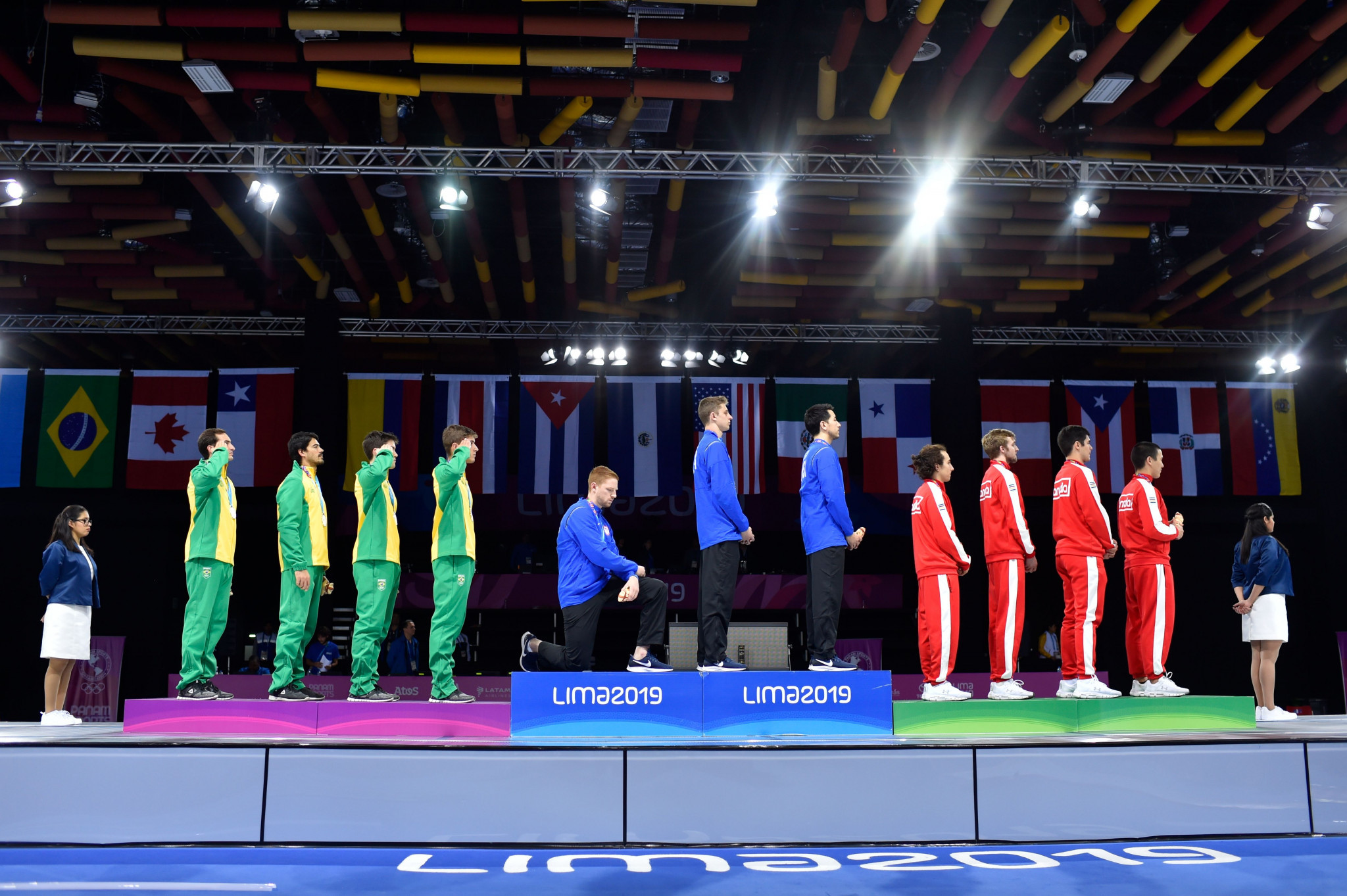 The USOPC will not sanction athletes who protest at the Olympic and Paralympic Games ©Getty Images