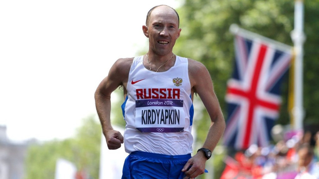 Sergey Kirdyapkin won the men's 50 kilometres walk at London 2012 but was banned for two years shortly afterwards - a decision the IAAF are now appealing against ©Getty Images