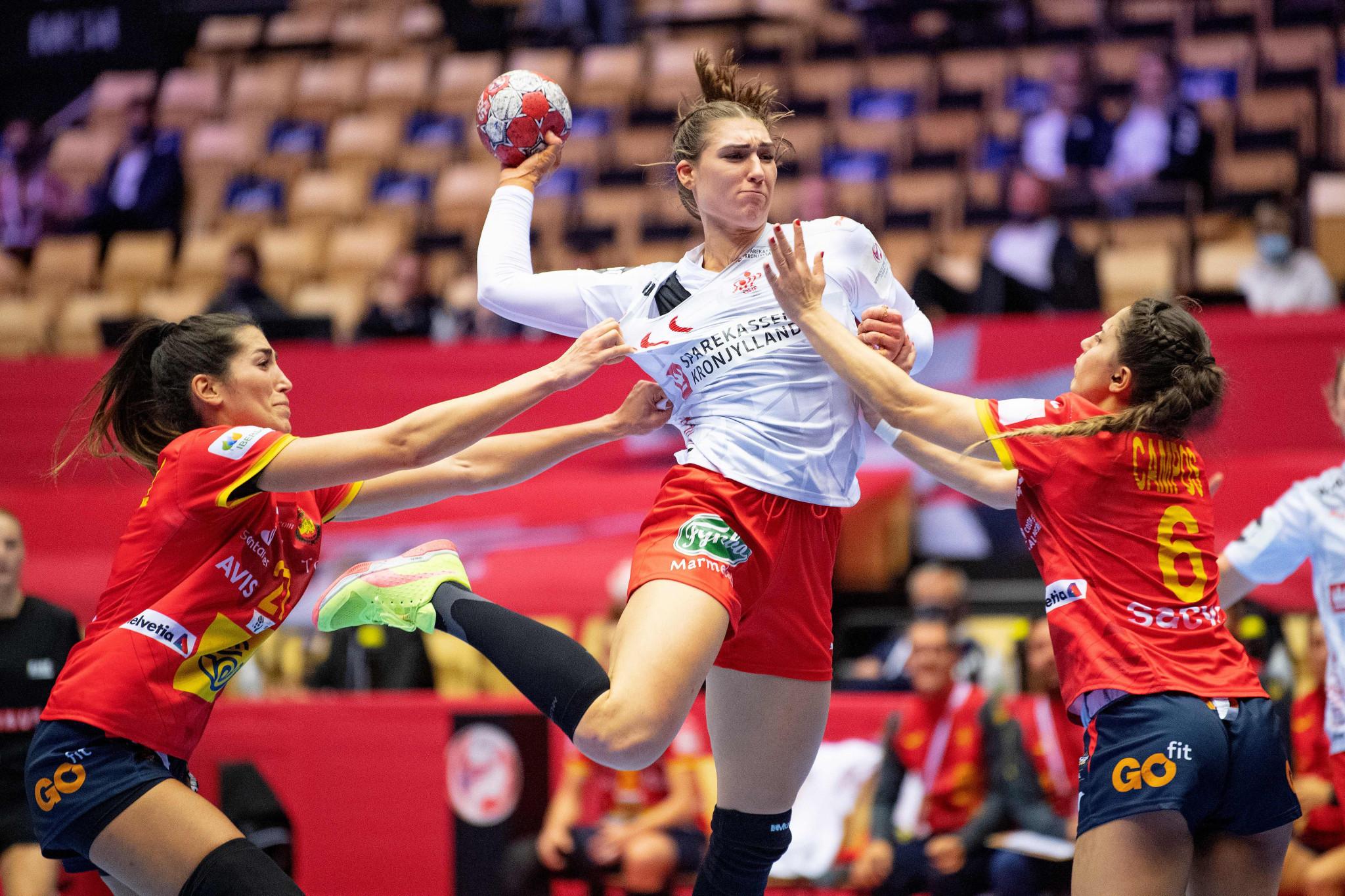 Denmark beat Spain to keep European Women's Handball Championship semi-final hopes alive