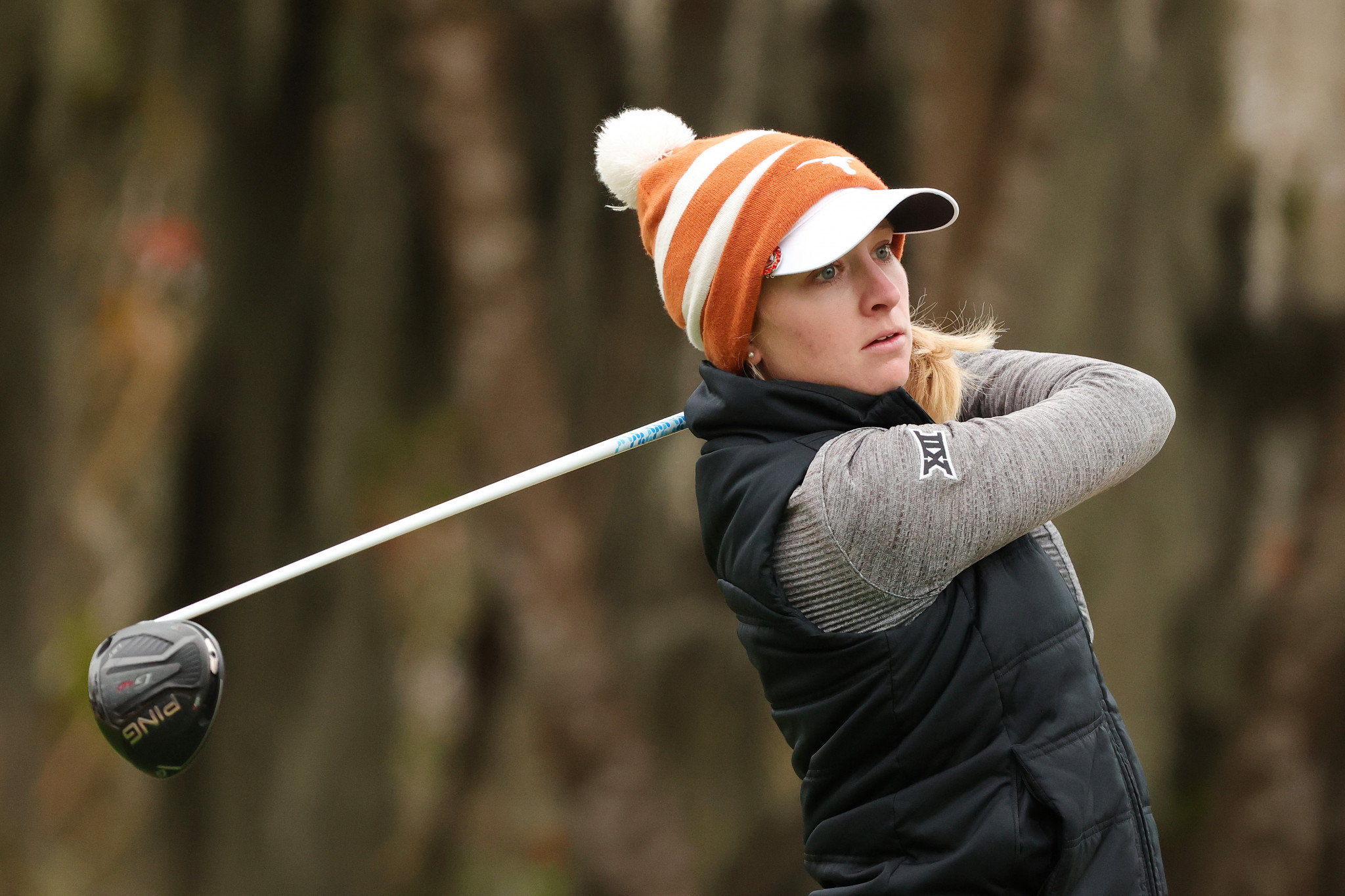 Kaitlyn Papp of the United States was the best amateur and finished three over par ©Getty Images