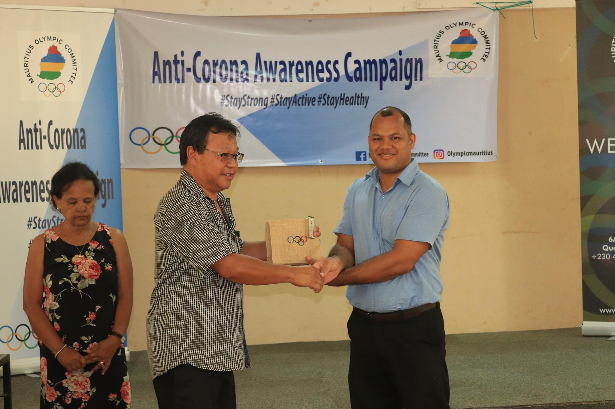 Mauritius Olympic Committee launches coronavirus awareness campaign