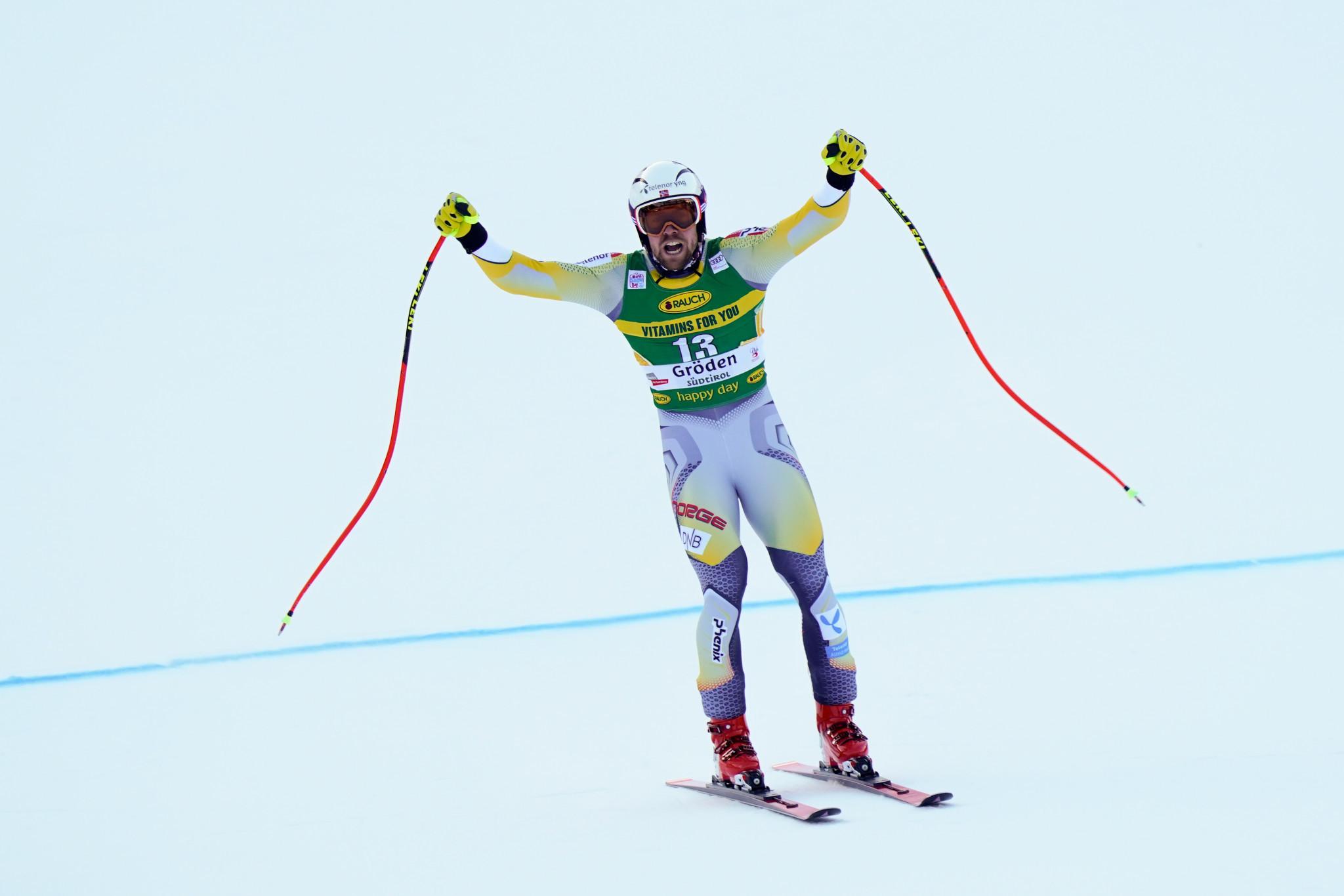 Kilde triumphant in men's super-G at FIS Alpine Ski World Cup in Val Gardena