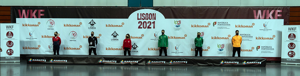 Social-distancing measures are set to be in place during medal ceremonies at WKF events ©WKF