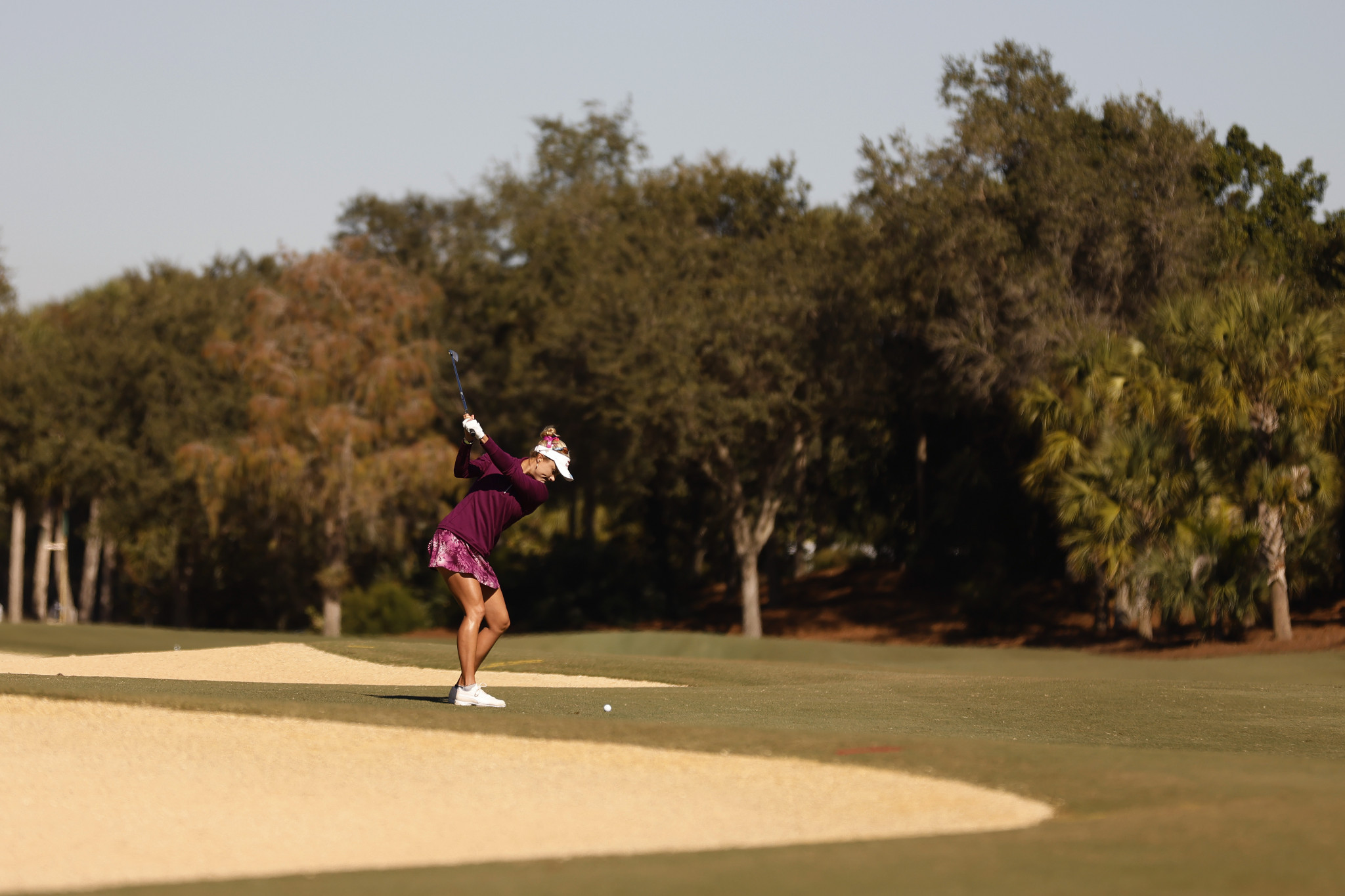 Lexi Thompson could not replicate her opening-round form, but is only one shot off the lead ©Getty Images