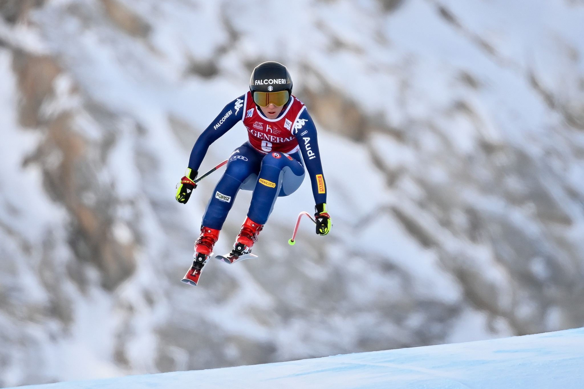 Olympic downhill champion Goggia pips Suter in Val-d'Isère