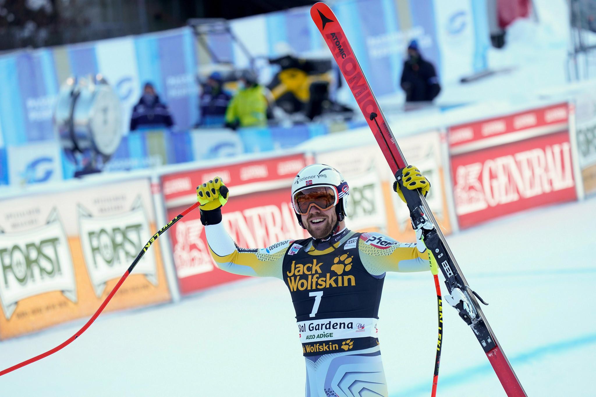 Kilde wins second consecutive FIS Alpine Ski World Cup race in Val Gardena