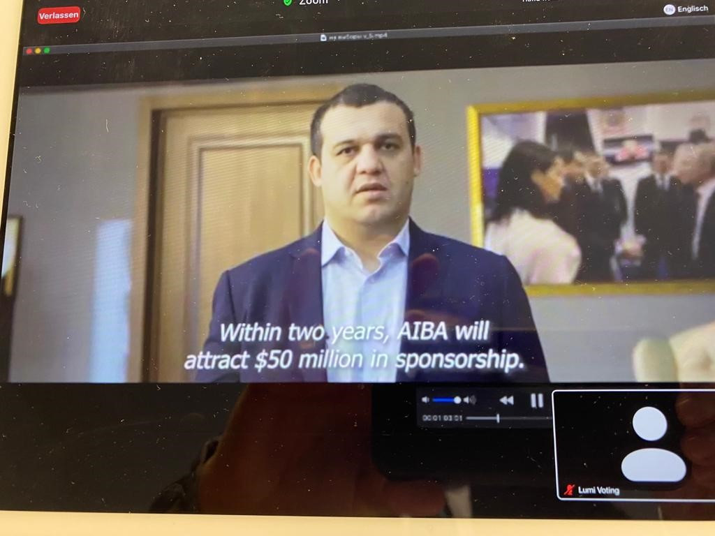 Among Umar Kremlev's campaign promises  was increasing AIBA's sponsorship revenues ©ITG
