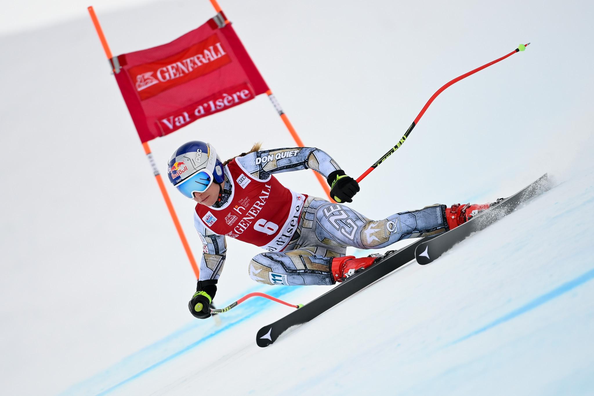 Olympic champion Ledecká wins first super-G race of Alpine World Cup season