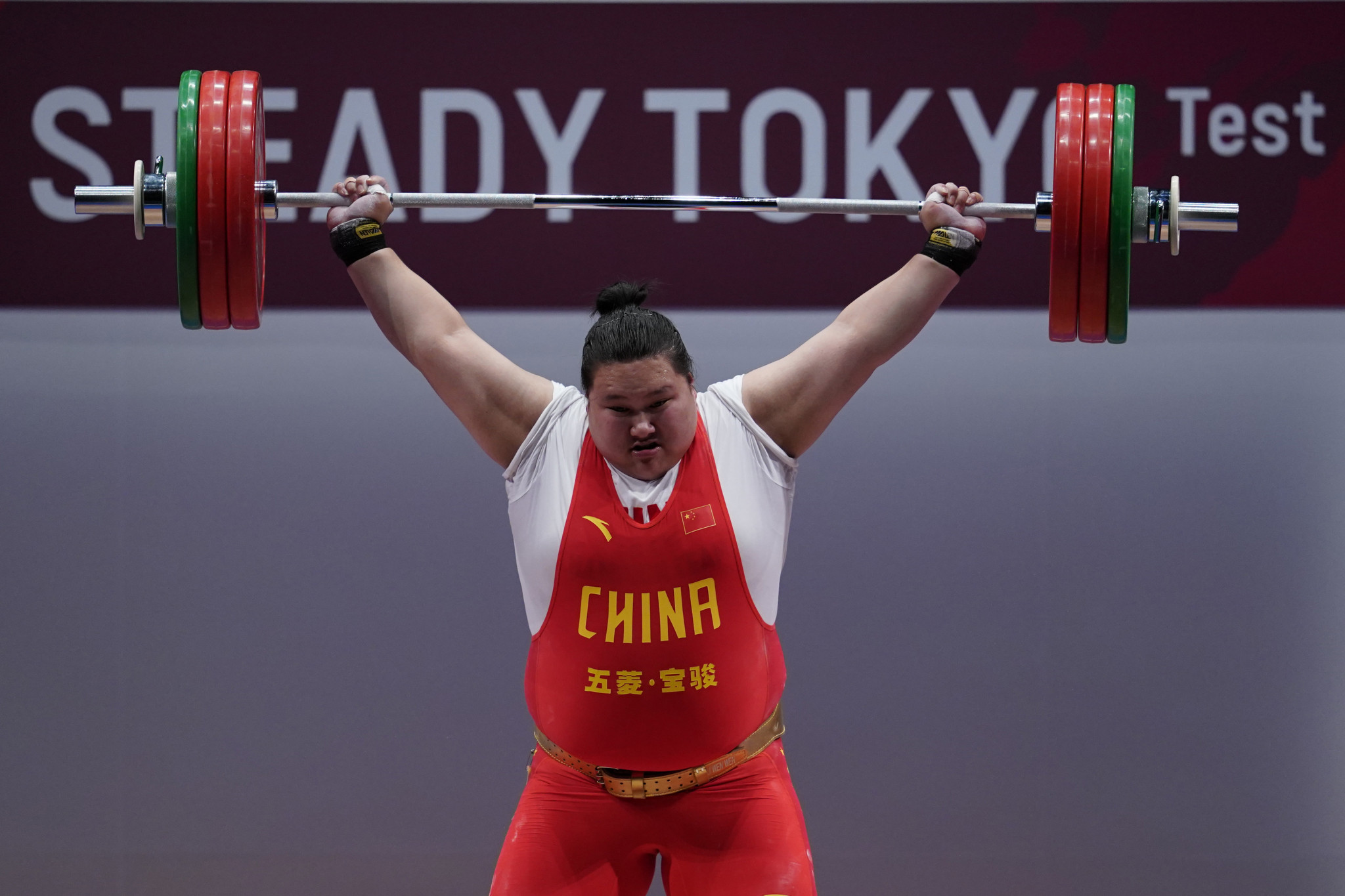 China's Li Wenwen will now be a strong favourite for gold at Tokyo 2020 following Kashirina's suspension ©Getty Images