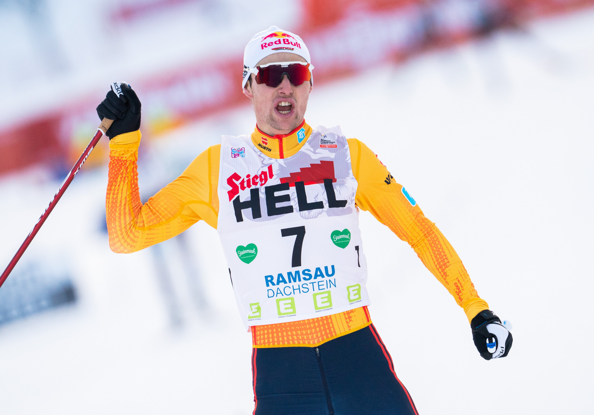Geiger claims second successive victory at FIS Nordic Combined World Cup in Ramsau