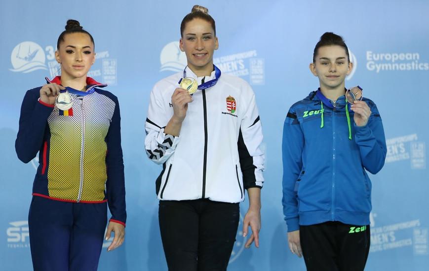 Kovacs and Iordache split European Women's Artistic Gymnastics titles on final day