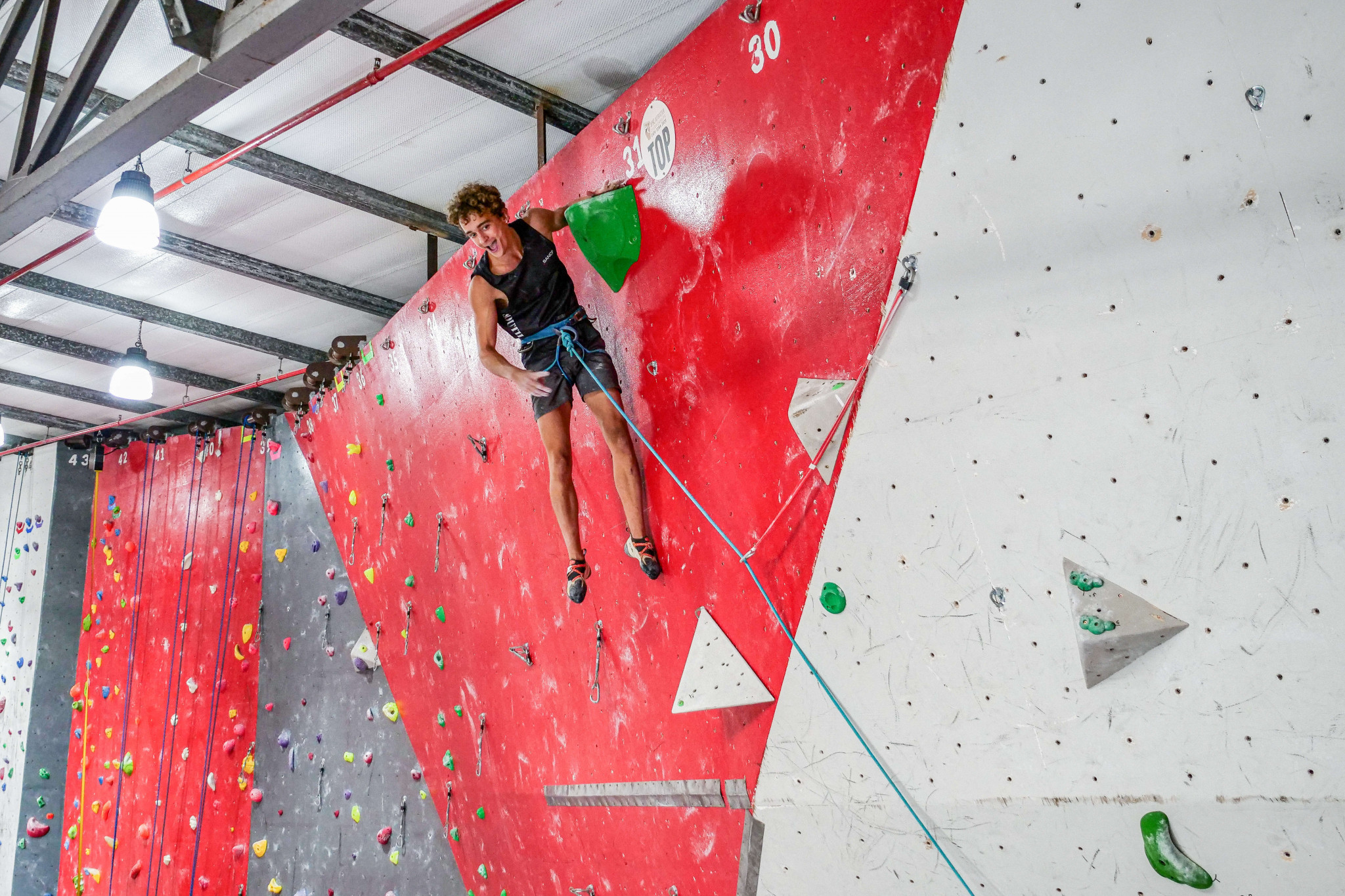 Christopher Cosser clinched a place at Tokyo 2020 ©IFSC