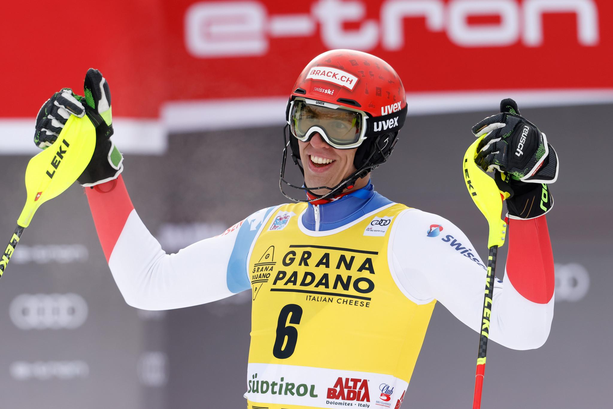 Zenhäusern wins fourth FIS Alpine Ski World Cup race in Alta Badia