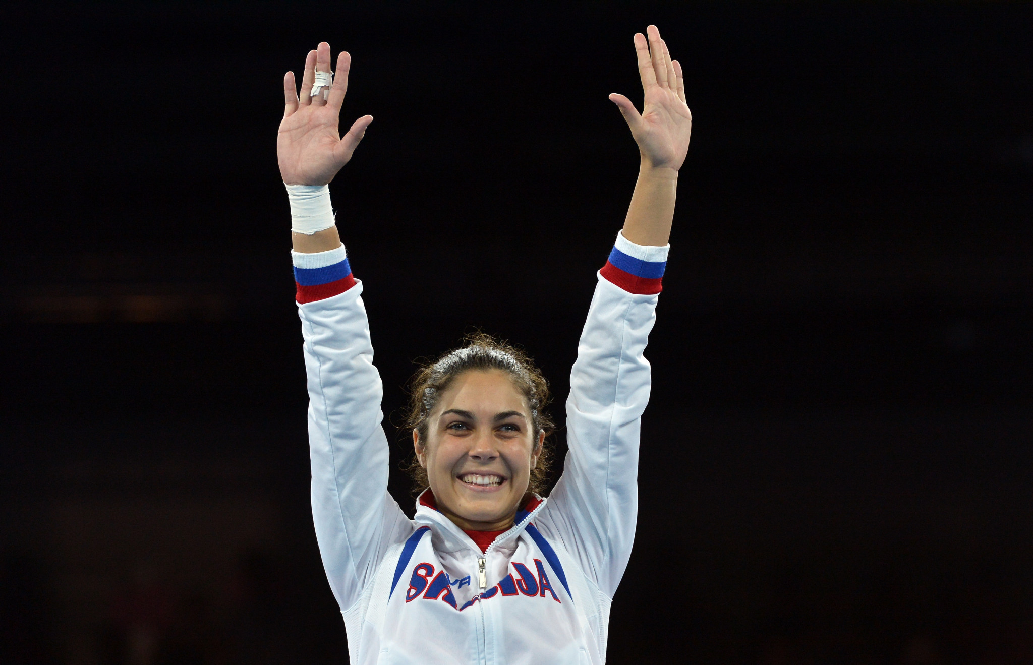 Milica Mandić is the first athlete from Serbia to have won an Olympic gold medal ©Getty Images