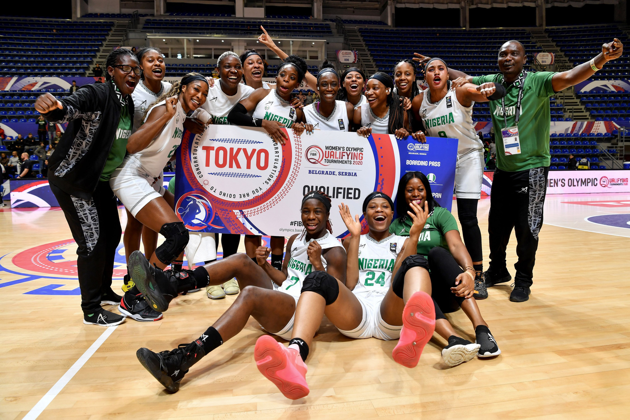 The Nigerian women's basketball team qualified for the Tokyo 2020 Olympic Games in February ©Getty Images