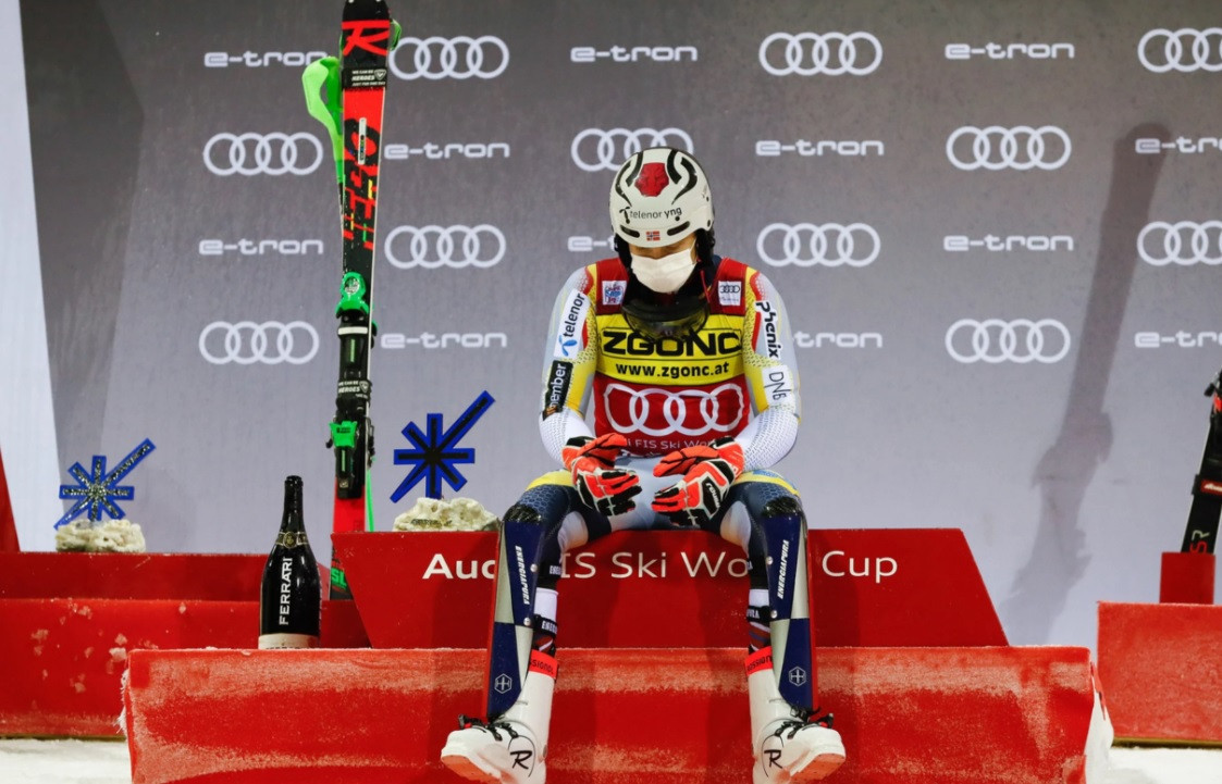 Kristoffersen claims emotional night slalom win at FIS Alpine Ski World Cup