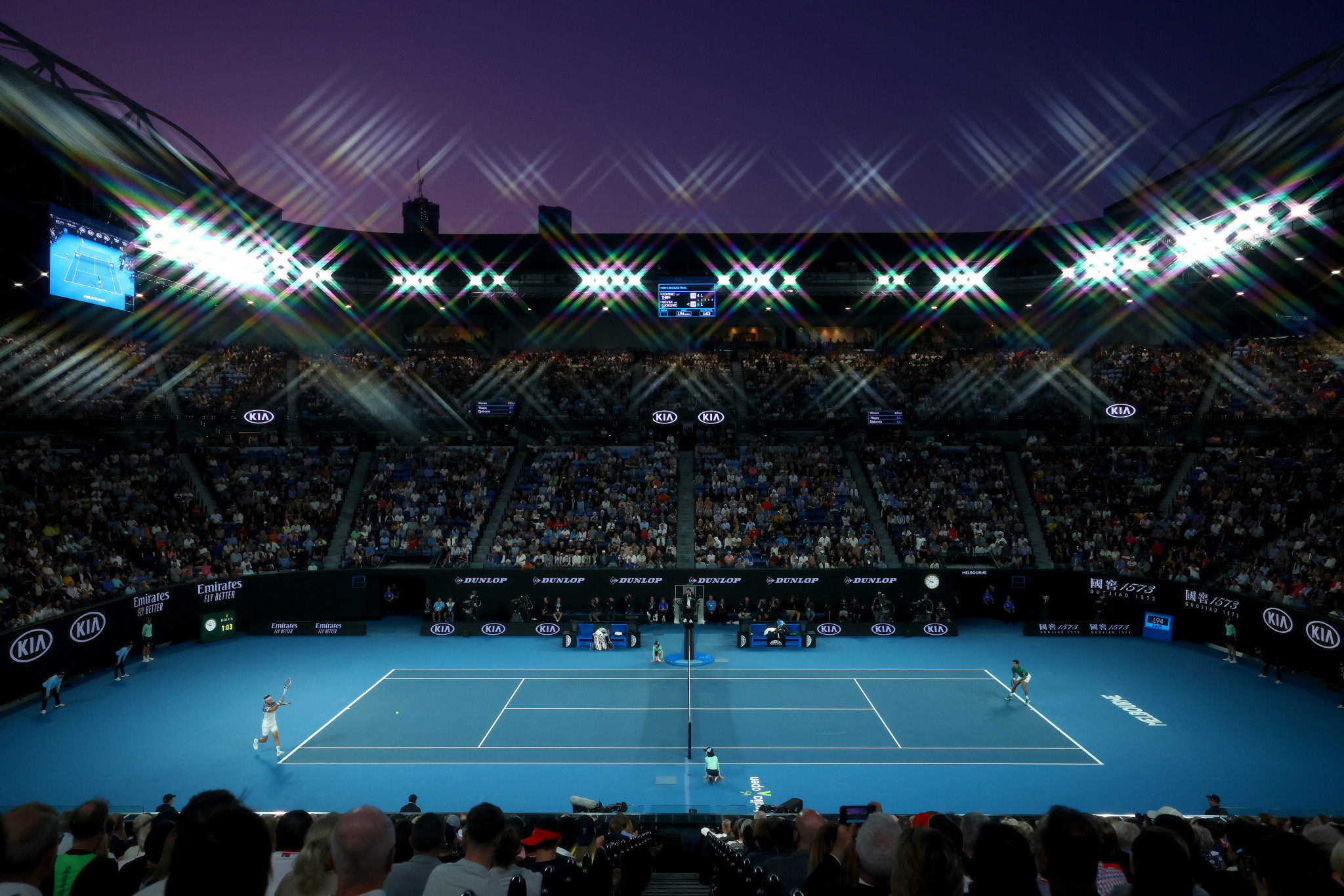 Under the current plans, the 15,000-seater Rod Laver Arena will hold 25 per cent of its capacity ©Getty Images