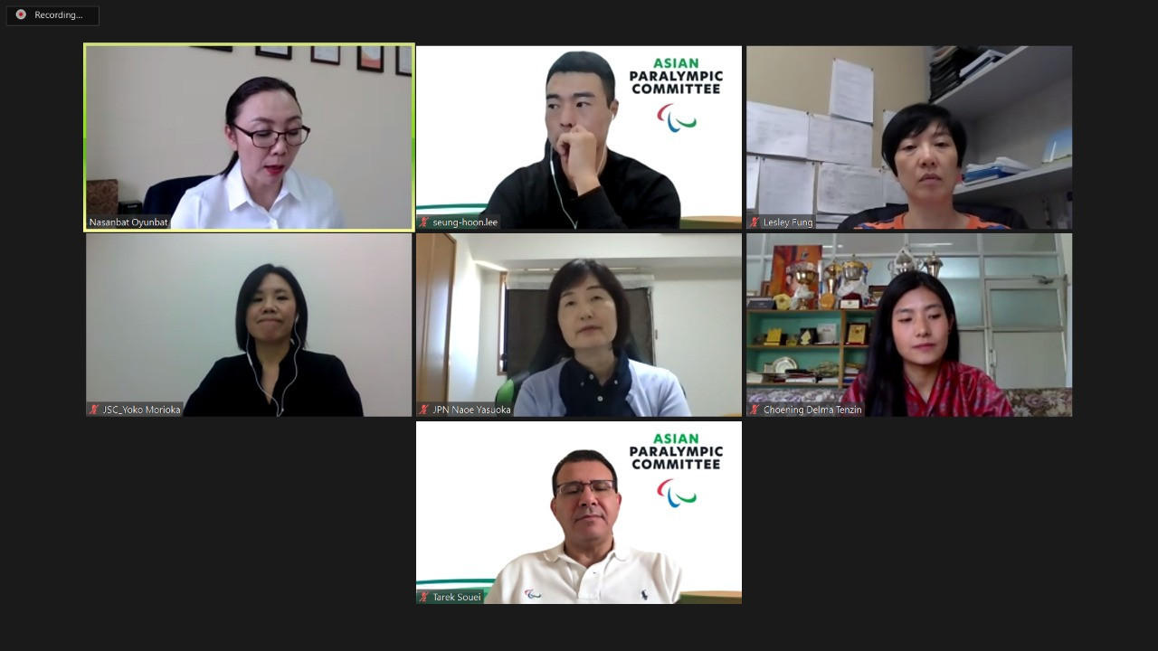 Bhutan was one of 11 nations whose National Paralympic Committee met with the APC virtually ©APC