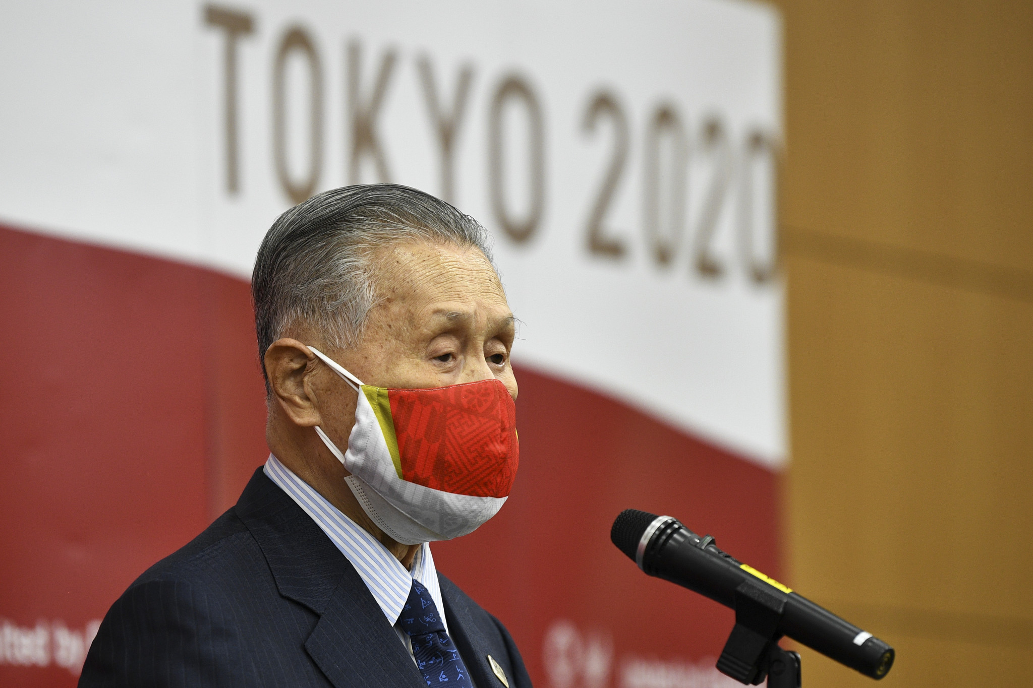 Tokyo 2020 President Yoshirō Mori thanked the domestic partners for their support during the global health crisis ©Getty Images