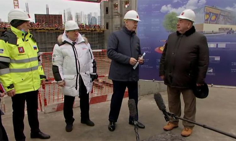 FIAS President Shestakov visits International Sambo Center construction site with Moscow Mayor