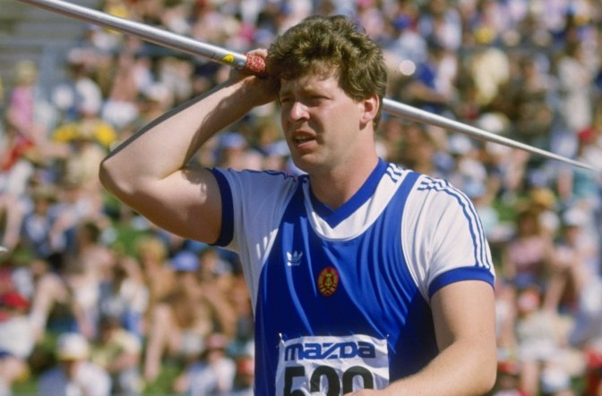 The man who threw too far...East Germany's Uwe Hohn, whose 1984 world record of 104.80m imperilled spectators and caused the javelin to be re-weighted to land earlier. One way to re-write the record books.... ©Getty Images