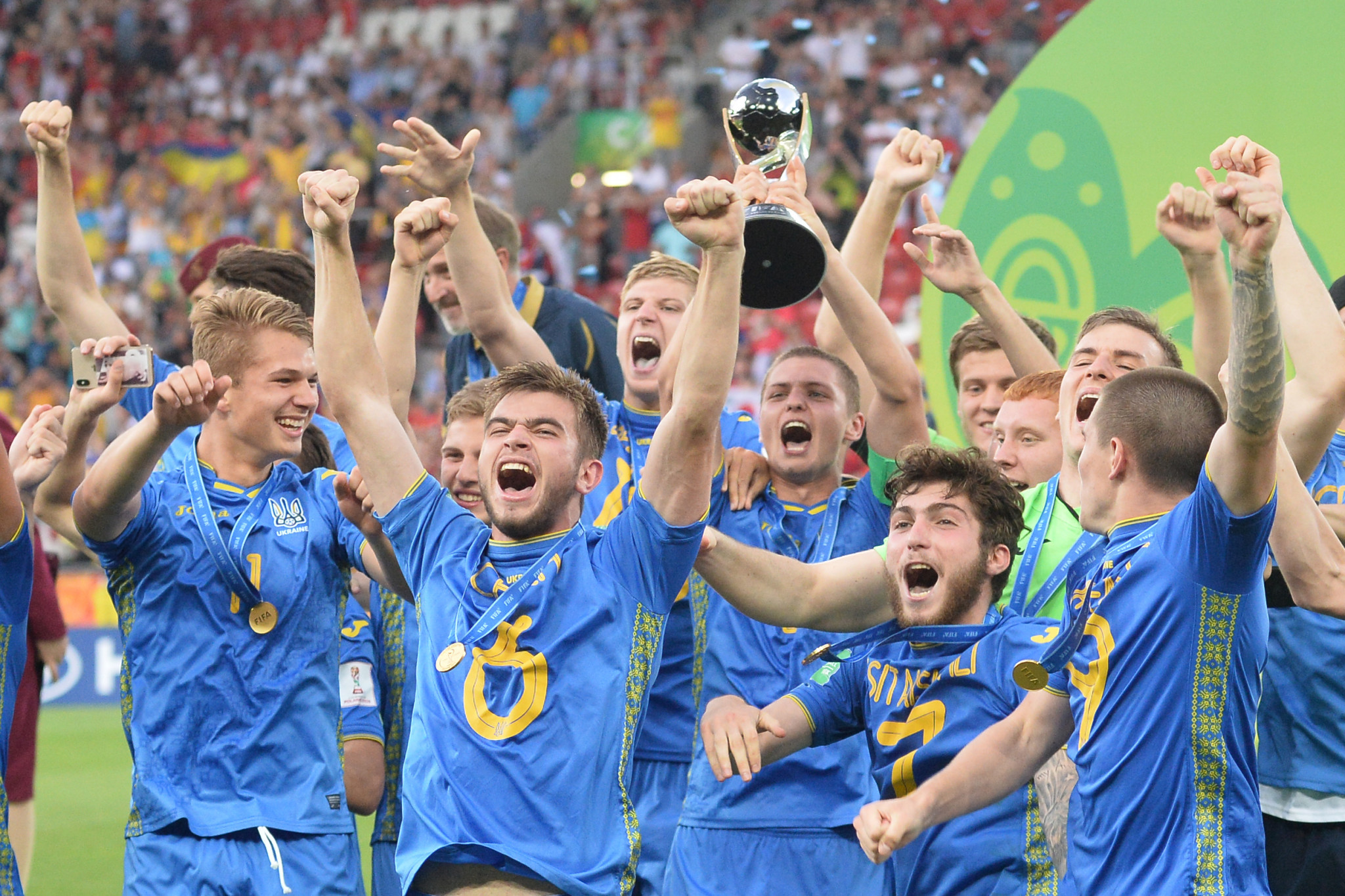 Ukraine won the FIFA Under-20 World Cup in 2019 ©Getty Images