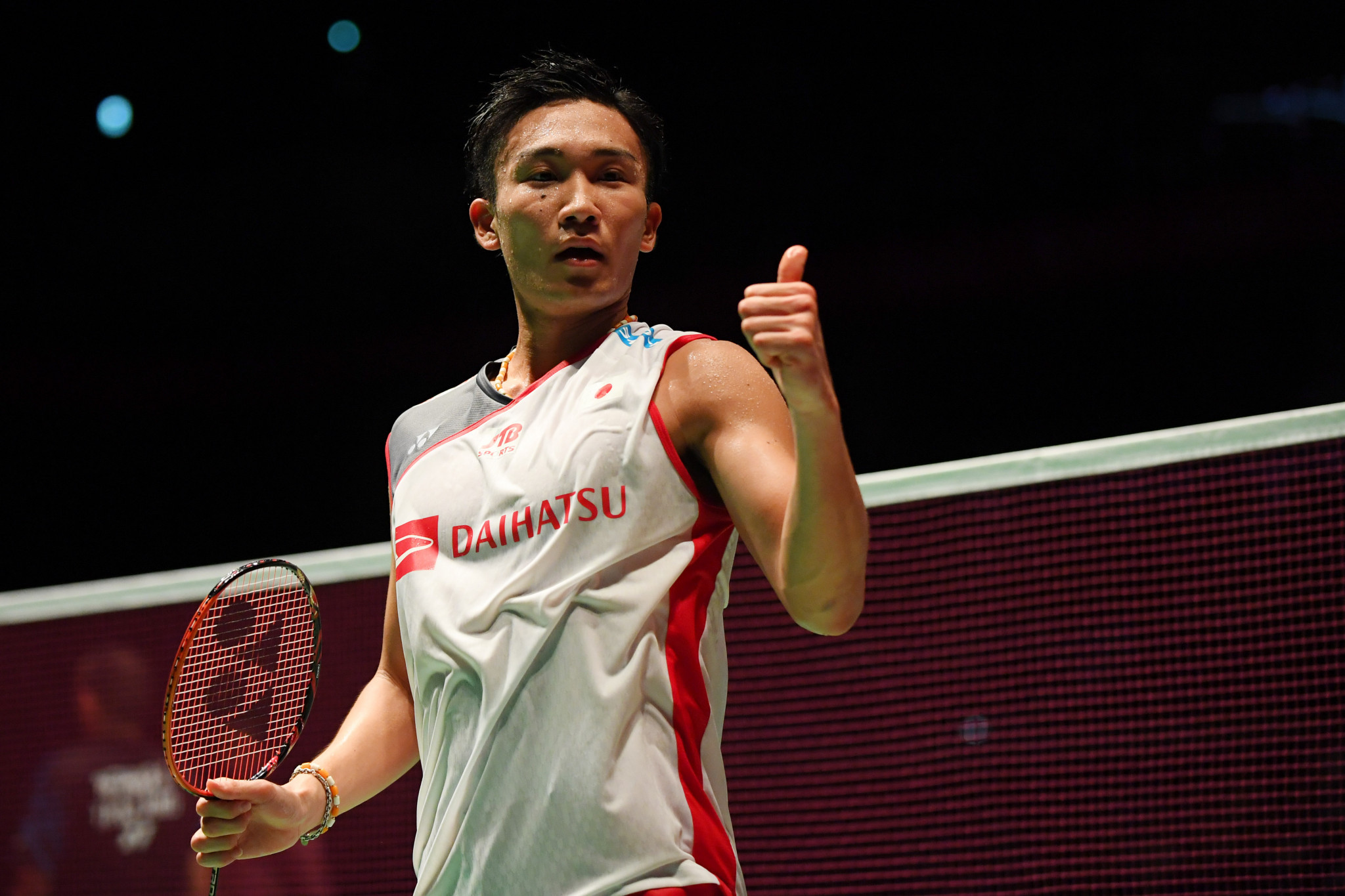 Kento Momota won the first competition he played in since a traffic accident in January ©Getty Images