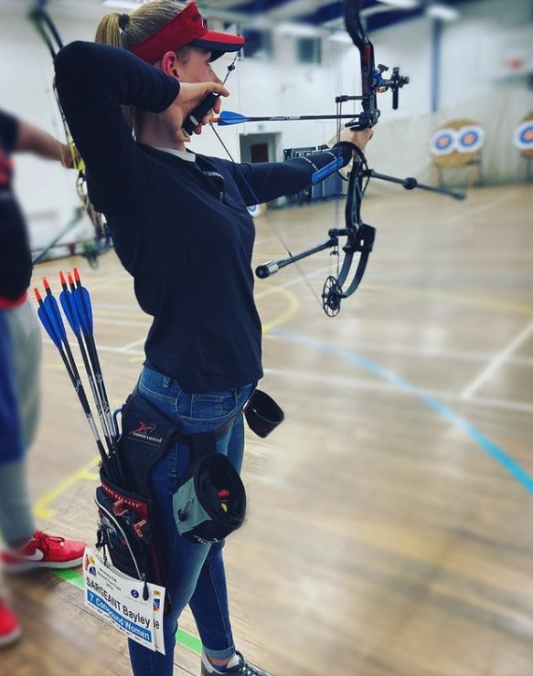 Britain's Bayley Sargeant won the women's compound category with an impressive score of 595 points ©Instagram